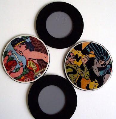 Crafts for men: comic book DIY coasters. - Mod Podge RocksMod Podge Rocks