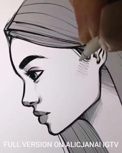 10 Ways Drawing Of women Faces:   - Art  -  #art #drawing #faces #Ways #Women