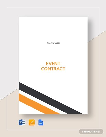 Event Contract Lettering Templates Chart