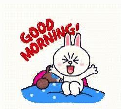 Good Morning Rabbit GIF - GoodMorning Rabbit Line - Discover & Share GIFs