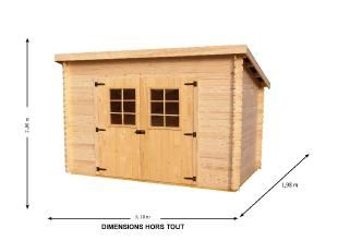 Abri De Jardin En Bois Charente 3x2 M Abri De Jardin Jardins En