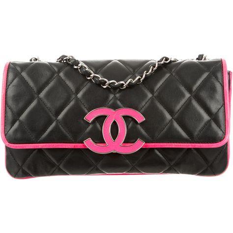 Pre Owned Chanel Divine Bi Color Flap Bag 1 945 Liked