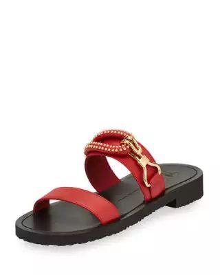 13fd7753b N4F7Z Giuseppe Zanotti Men s Gomzak New Hook Slide Sandal