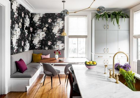 Wall Treatment - A Designer's Home That Takes Wallpaper To The Next Level - Photos