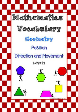 Maths Vocabulary Geometry Position Direction And Movement Math Vocabulary Vocabulary Mathematics
