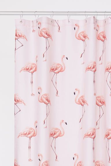 Patterned Shower Curtain Flamingo Shower Curtain Curtains