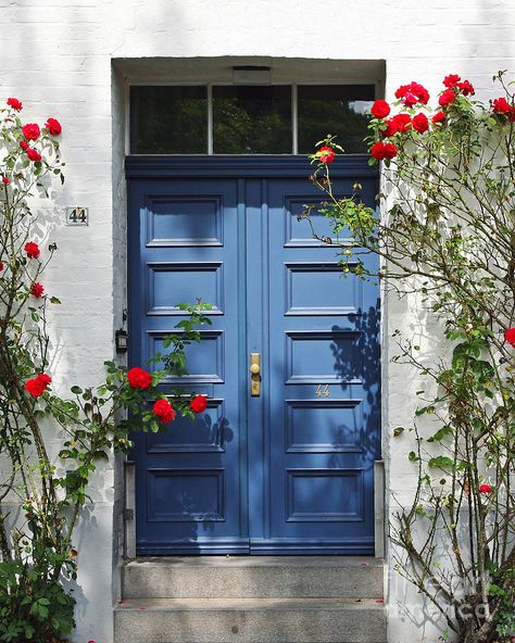 Teal Front Doors, Best Front Door Colors, Cottage Front Doors, Front Door Paint Colors, House Front Door, Painted Front Doors, Front Door Design, Blue Doors, Colored Front Doors