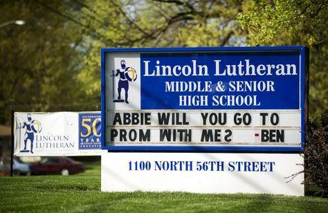 Lutheran student's prom invite no secret