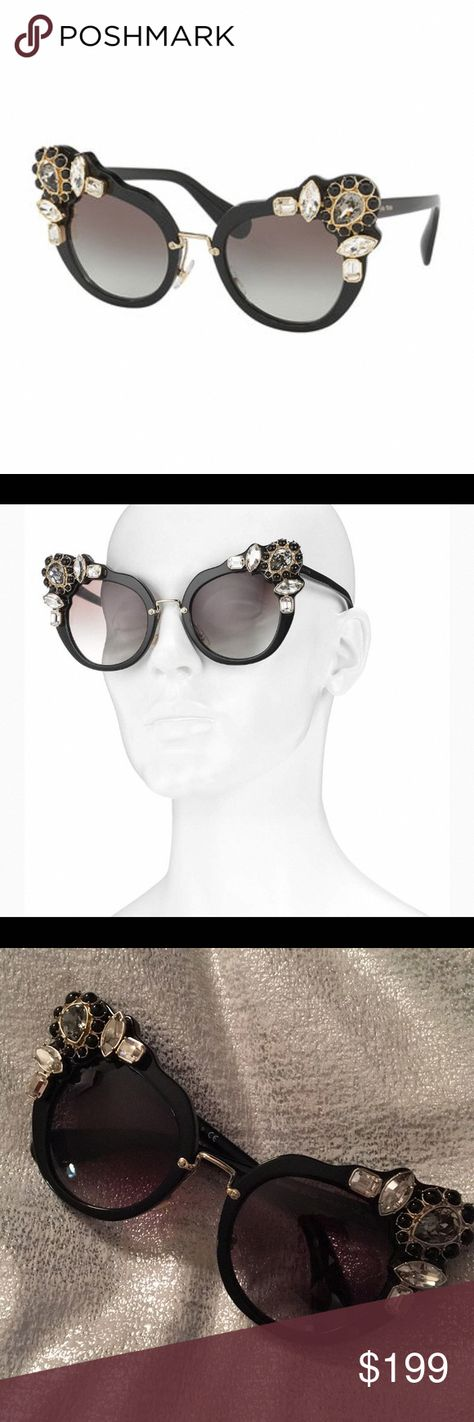 7f08c7633c17 Miu Miu Sunglasses Miu Miu dramatic cat-eye sunglasses in acetate with  metal components.