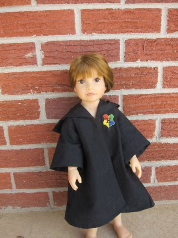 """Hogwarts robe for American Girl and other 18"""" dolls"""
