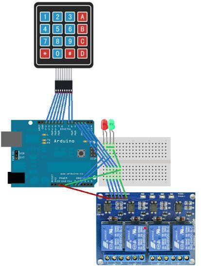 Using Password Access Control On Matrix Keypad With Optocoupler