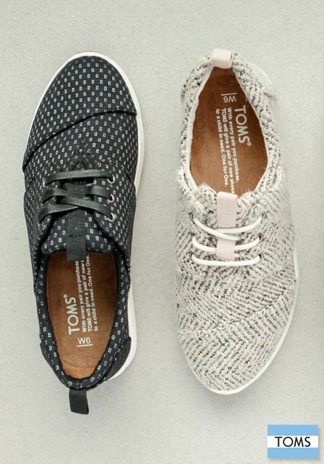 The ones on the right!!!! With every pair you purchase, TOMS will give a pair of new shoes to a child in need.