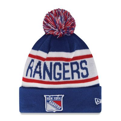 the latest d8c0a 4f59f New York Rangers New Era Biggest Fan Redux Knit Hat With Pom - Blue