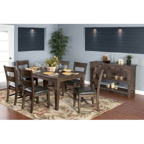Sunny Designs 1012TL Homestead Dining Table in Tobacco Leaf