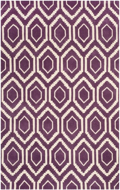 The Chatham Collection Is A Sophisticated Contemporary Rug That Uses A Chevron Design Made In India With A 100 Wool Pile This Ivory Rug Area Rugs Purple Rug