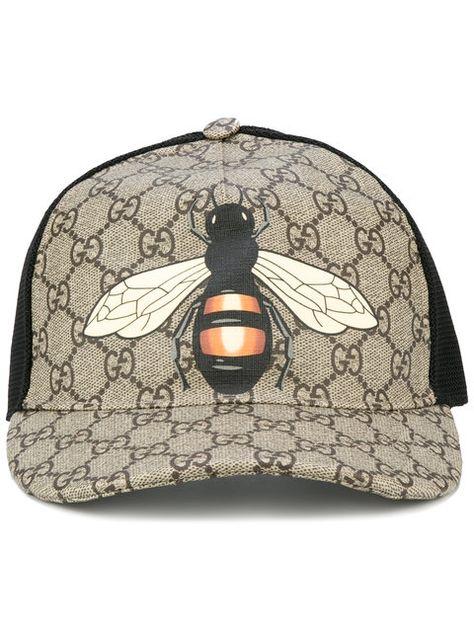 76f0ed1f5e9ac GUCCI Bee Print Gg Supreme Baseball Cap.  gucci  cap