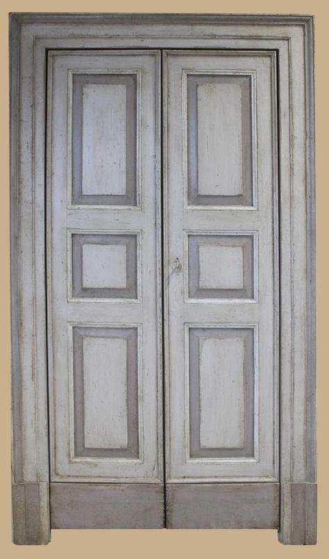 Porta riprodotta laccata in stile marchigiano | Porte ...