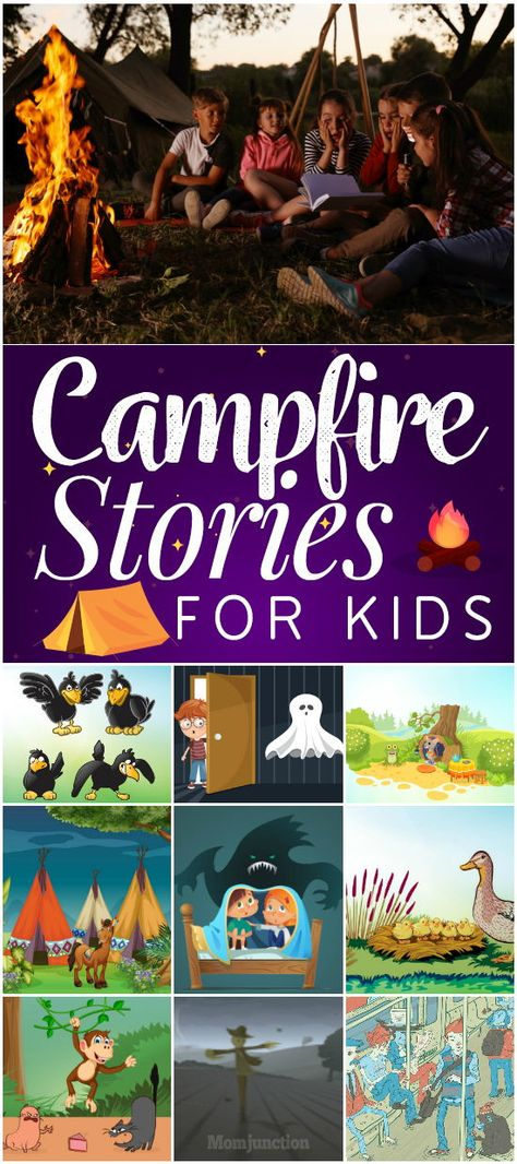 11 Best Campfire Stories For Kids - Trend Camping Outfits 2020 Campfire Stories For Kids, Campfire Games, Kids Stories, Adventure Stories For Kids, Camping Activities, Activities For Kids, Camping Theme, Rv Camping, Camping Ideas