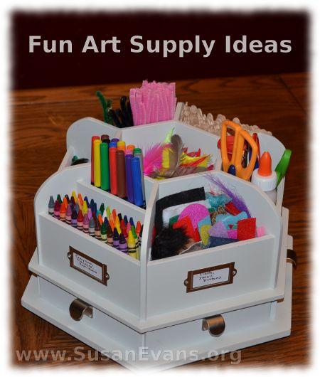 Fun Art Supply Ideas Free Pdf Organization For Homeschoolers