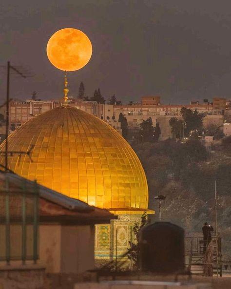 Arab world on Twitter: The moon in Jerusalem - Palestine…