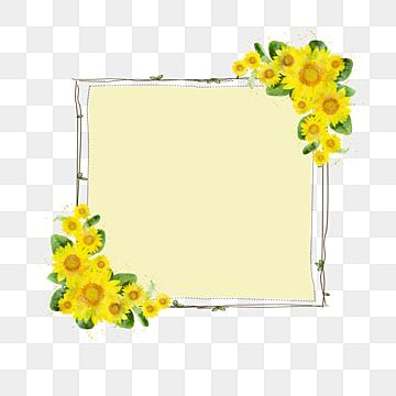 Sunflower Border Sunflower Clipart Decoration Png Transparent Clipart Image And Psd File For Free Download In 2021 Cute Flower Wallpapers Sunflower Clipart Planting Flowers