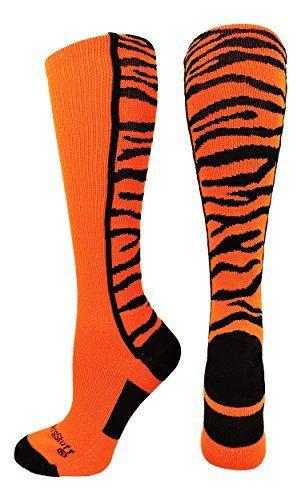 Multiple Colors MadSportsStuff Tigers Logo Athletic Crew Socks