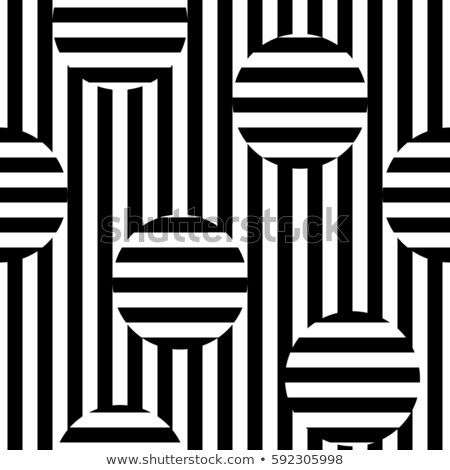 Vector Monochrome Seamless Pattern Black White Stripes Texture