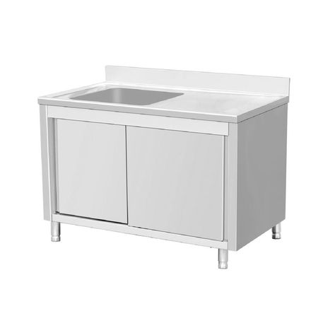 Freestanding Stainless Steel Silver 64 In Single Bowl Kitchen