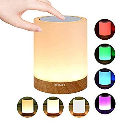 Royfacc Night Light Touch Sensor Lamp Bedside Table Lamp For Kids Bedroom Rechargeable Dimmable Warm White L Touch Lamps Bedside Bedside Table Lamps Touch Lamp