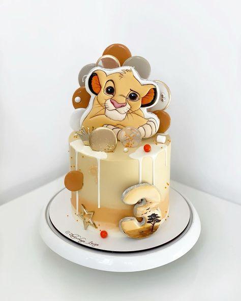 Boys Bday Cakes, Boys 1st Birthday Cake, Lion King Birthday, Baby Boy Cakes, Lion King Cakes, Lion Cakes, Kids Birthday Breakfast, Fun Baking Recipes, Apple Recipes