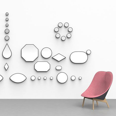 Doshi Levien's jewel-like mirrors for Danish brand for Hay.