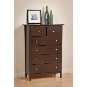 Prepac Furniture Berkshire Five Drawer Chest Dresser