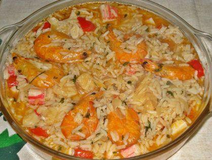 Arroz De Bacalhau Com Gambas E Delicias Do Mar Cuisine