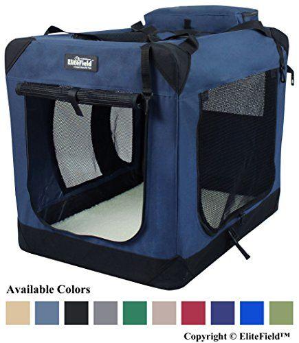 Elitefield 3 Door Folding Soft Dog Crate Indoor Outdoor Pet Home Multiple Sizes And Colors Available 4 Soft Dog Crates Dog Crate Dog Crate Sizes