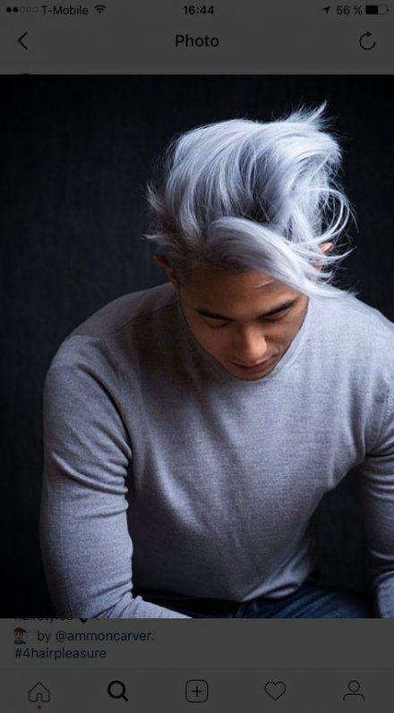 New Hair Silver Boy Grey Ideas Hair Men Hair Color Grey Hair