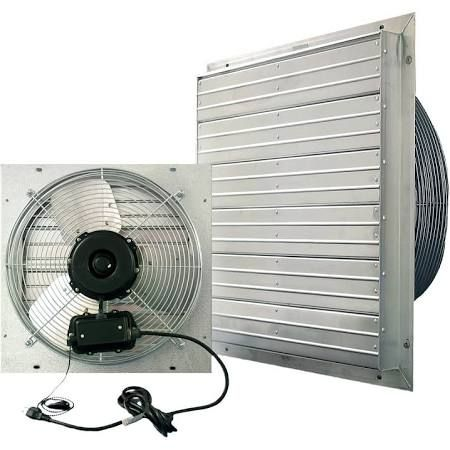 J D Manufacturing Vpes24 24 Inch Shutter Fan With Cord Ul507 Motor 2 Speeds Exhaust Fan Outdoor Shutters Aluminum Shutters