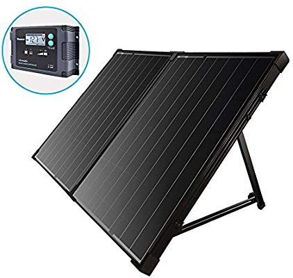 Amazon Com Renogy 100 Watt 12 Volt Monocrystalline Foldable Portable Solar Suitcase With Voyager Wate Solar Power Kits Off Grid Solar Power Best Solar Panels