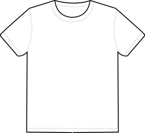 Download T Shirt Outline Clipart Clipart Best Clipart Best T Shirt Design Template Shirt Template Fashion Design Template