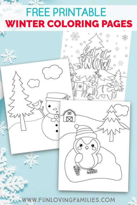 Winter Coloring Pages For Kids Winter Activities For Kids
