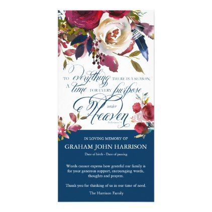 Funeral Thank You Cards There Is A Season 1 Zazzle Com
