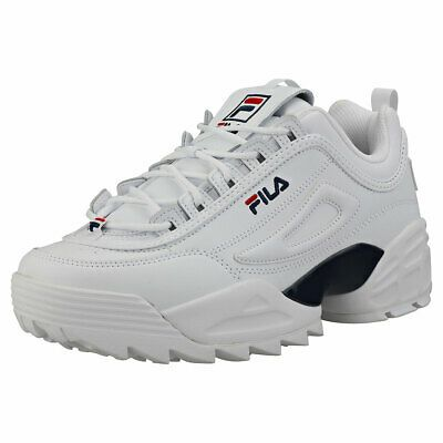 mens white platform trainers