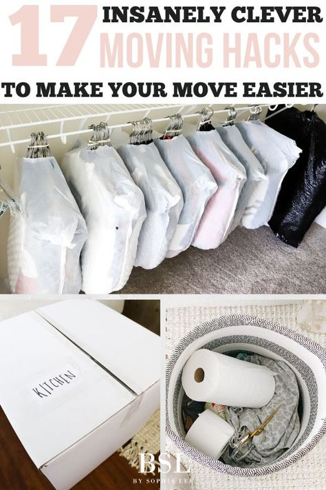 i am seriously obsessed with these moving hacks! learned so much and will definitely be using these moving tips as i pack up my house Moving House Tips, Moving Home, Moving Day, New Home Checklist, Apartment Checklist, Apartment Hacks, Moving Checklist Printable, Moving House Checklist, Moving Clothes