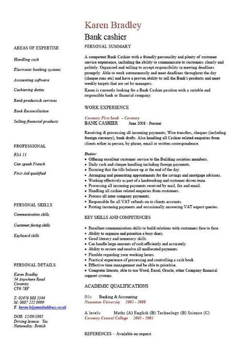 A popular CV template design that is well laid out and looks professional.