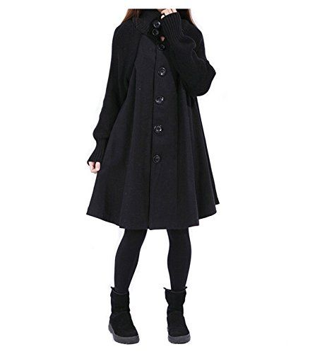 Manteau de Coton Vintage en Coton Poncho Cape Coat Cardigan