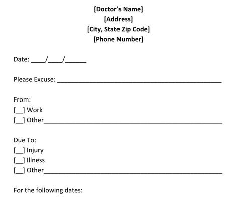 Fake Doctors Note Print Out Fake Doctors Note Template, Doctor - check stub template free