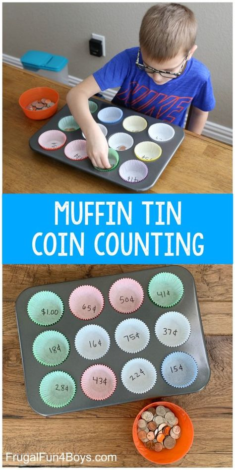 Muffin Tin Coin Counting Activity - Frugal Fun For Boys and Girls