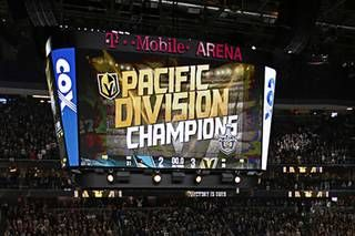 Golden Knights Win Pacific Division Title Golden Knights Vegas Golden Knights Golden Knights Hockey