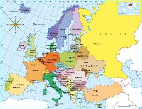 Mapa Europa Com Capitais Capitais Da Europa Mapa De Viagem