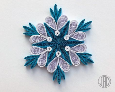 Quilled Snowflakes, Quilling Paper Art, Christmas Tree Decor Topper, Mandala Wall Art Ornaments, Wedding Handmade Apartment Decorations Gift