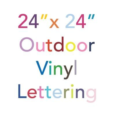 Custom Outdoor Vinyl Lettering Long Term Semi Permanent Weatherproof Adhesive Decal Sticker Letter Vinyl Lettering Custom Vinyl Lettering Lettering